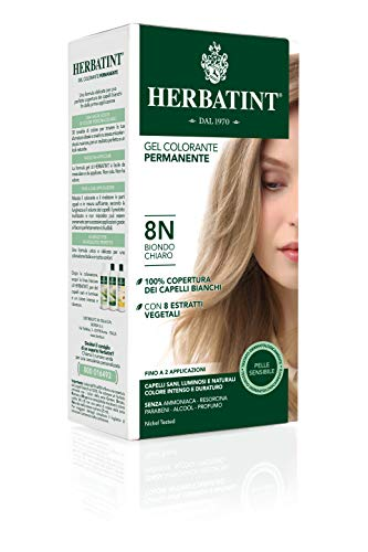 Herbatint 8N Light Blonde Permanent Herbal Hair Colour Gel 135ml