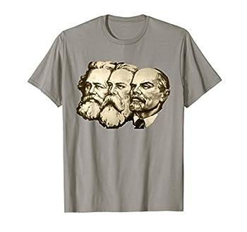 Vintage Soviet Marx Engels Lenin Russian Propaganda Poster T-Shirt