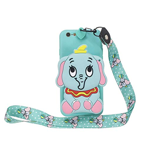 HongYong Case for iPhone 6 / iPhone 6s Case Soft Back Cover 3D Cartoon Cute Elephant Pattern Colour Funny Design Slim Flexible Protective Case Cover Bumper for Girls with Cute Design - Blue