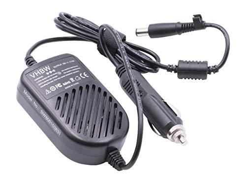 vhbw Cable de Carga, Coche Compatible con HP Pavilion dv5-1000, dv5-1100, dv5-1200 portátil - Cargador 12V, 90W