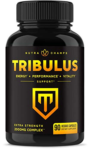 Tribulus Terrestris 2000mg Supplement [Extra Strength] 45% Steroidal...