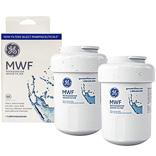 MWF Water Filter for GE Refrigerator Water Filter Replacement Compatible with GE SmartWater MWF, MWFINT, MWFP, MWFA,GWF, GWFA (2 Pack)