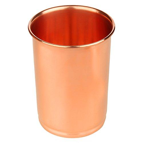 Zap Impex Trinkgefäße Kupfer Glas reines Kupfer Zuhaltung ayurvedischen Heil
