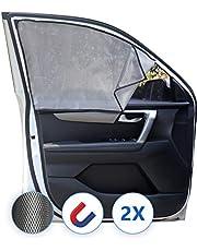 Lechin Zonwering voor de auto, met uv-bescherming, zijruiten, parasol, meshmateriaal, 2 stuks