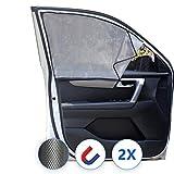 Lechin Tende Magnetico Oscuranti per auto - Parasole per finestrino laterale dell'auto (2X) - Tendine parasole per auto per bambino - finestra laterale anteriore - Vestibilità universale