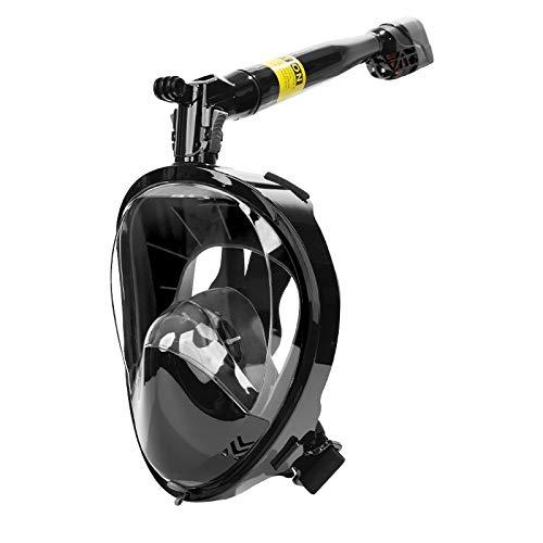 MHSHKS Completa Máscara Máscara De Esnórquel Buceo Submarino Vista De 180 ° Equipo De Snorkel Profesional Máscaras De Snorkel De Natación De Cara Completa Antifugas Antivaho para Adultos Y Niños