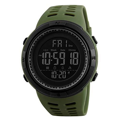 gazechimp Relógio Esportivo Masculino 1251 Cronômetro De Contagem Regressiva à Prova D'água Relógio Militar - Verde