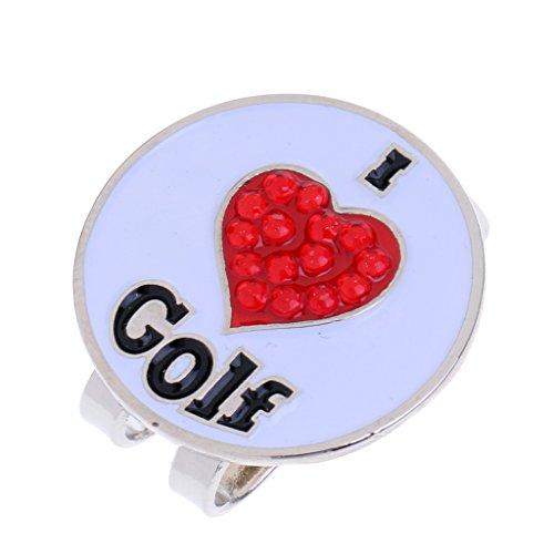 MagiDeal Clip De Chapeau De Golf avec Marqueur De Balle Magnétique Détachable Modèle