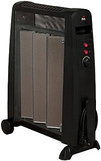 FM Calefacción RM-15 Negro 1500W Radiador - Calefactor (Radiador, Piso, Negro, Giratorio, 1500 W, 500 W)