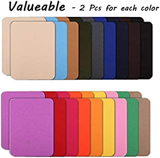[18 Color] 36-Pack Colorful Iron-on Patches, Assorted Denim Cotton DIY Decorative Patch and Jean Repair Patches 4.9 x 3.7 inch, 2 Pcs per Colors