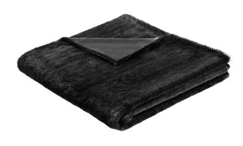 B @Home Biederlack Couverture/Couvre-lit 150 x 200 cm-Mondaine Couverture/Couvre-lit Noir