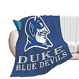 Duke Blue Devils Flannel Fleece Velvet Plush Throw Blanket Anti-Static Fuzzy Soft Warm Blanket Microfiber