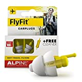 Alpine FlyFit Airplane Pressure Relief Earplugs 100x Reusable Hygienic Flying Plugs Prevent Ear Pain & Reduce Noise for Adults - Plane Travel Hearing Protection with Hypoallergenic Ultra Soft Filter