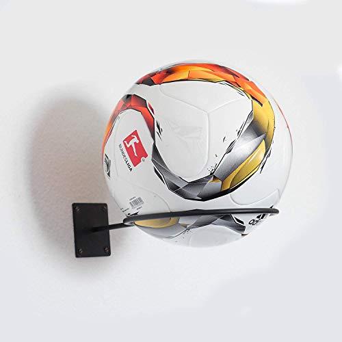Hochwertige Ballhalterung für Fußball, Football, Basketball, Volleyball und Handball - Ball Wandhalterung - Ballständer - Einfache Montage INKL. Schrauben