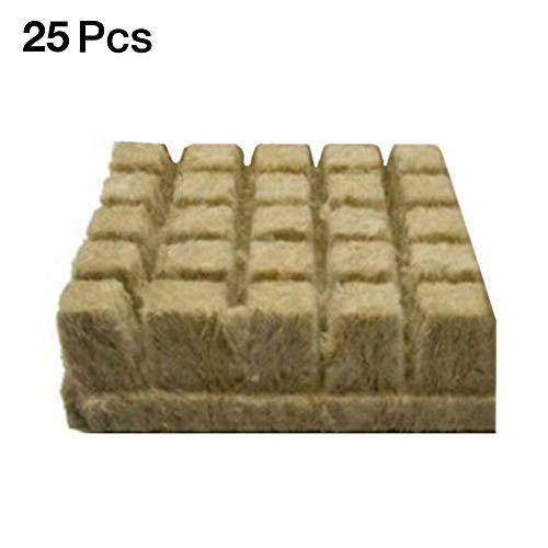 Steinwolle Anzuchtmatte Tray, 1/25/50er Anzuchtmatte Grodan Steinwollmatte Stecklingsblock Stecktray Rockwool/Stonewool Grow Cubes, Hydroponic Grow Rockwool Cubes Soilless Anbau Compress Base