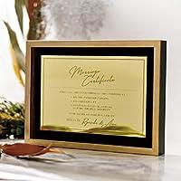 アクリルミラー結婚証明書「ゴールドプレート」/結婚式 誓約書 人前式 誓いの言葉 結婚証明書