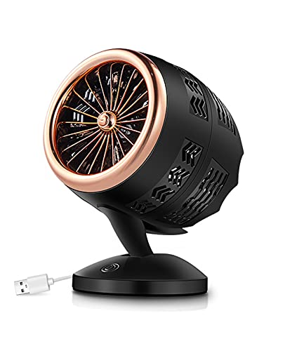 Mini Ventilador Eléctrico, Calentador De Mesa, Calentador De Cerámica PTC, Radiador De Estufa De Calefacción, Para El Hogar, La Oficina Y El Dormitorio,Oro