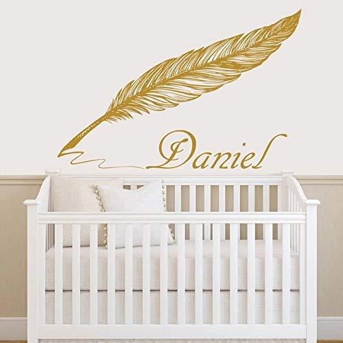 Llamada Etiqueta de la pared Etiqueta engomada del vinilo de la pluma Palabra Habitación infantil