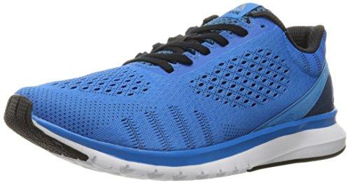 Reebok Men's Print Run Smooth ultk Shoe, Horizon Blue/Black/White, 7.5 M US