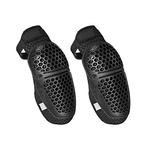 ZHIQIANG wuli Store Motocicletas Rodillas Almohadillas Ajustable Honeycomb Kneepads Off-Road Riding Protective Gear Motocross Rodilla Protección MTB Rodillera (Color : Black)