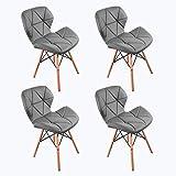 WV LeisureMaster 4PCS Cecilia Eiffel Millmead inspiré Chaise PU rétro à Manger Chaise Chaise de Bureau Lounge, Papillon Type...