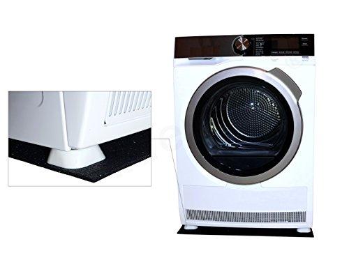 Tapis anti-vibrations universel pour machine à laver ou sèche-linge, antidérapant, 62x60x0,6cm + lot de 4 pieds antivibration, amortisseurs de vibrations et d'oscillation, ensemble amortissant