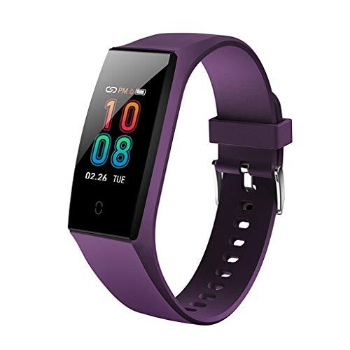 Kariwell Kari-47 - Reloj Inteligente Deportivo para Mujer (Monitor de presión Arterial, Pulsera de Ritmo cardíaco, para Correr, fútbol, bádminton, Baloncesto, natación, Escalada, Caminata), Púrpura