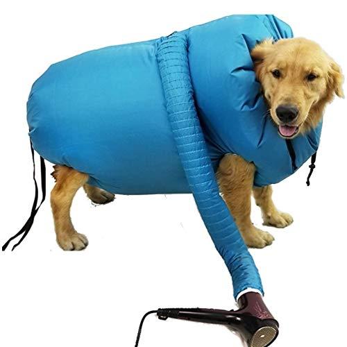 N\A Wasserdichter Haustier-Trockenbeutel, Hundetrockner, schnelles, geräuscharmes, einfaches Haustier-Werkzeug, geeignet für Hunde, um Haare nach dem Baden schnell zu trocknen. (M)