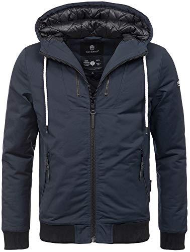 Navahoo Herren Winter Jacke leichte sportliche Jacke robust wasserabweisend Winddicht B623 [B623-Hunter-Navy-Gr.S]