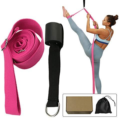 NIUPENG Beinstrecker, verstellbares Stretchband mit dem Türflexibilitätstrainer, Premium-Stretching-Ausrüstung für Yoga, Ballett, Tanzen, Gymnastik Cheerleads (Rose Red)