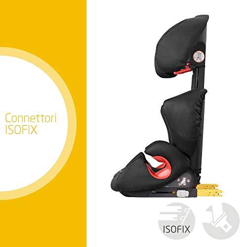 Bébé Confort Rodi XP FIX Seggiolino Auto 15-36 kg, Isofix, Gruppo 2/3 per Bambini dai 3.5 ai 12 Anni, Leggero e Facile da Installare, Colore Night Black