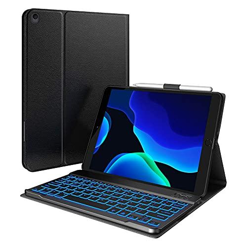 iPad 8th Generation Case with Keyboard & Pencil Holder, iPad 10.2 2020...
