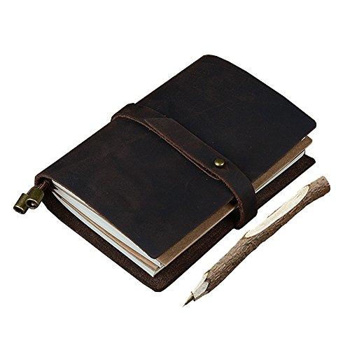GossipBoy – Diario de viaje retro hecho a mano rellenable, DIY, cuaderno del viajero, bloc de notas con 3páginas insertables.