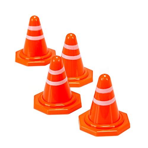 CG Mini Coni di Segnalazione 4cm, Giocattolo per Blocchi Stradali, Percorso ad Ostacoli, Coni da Corsa (Confezione da 10)