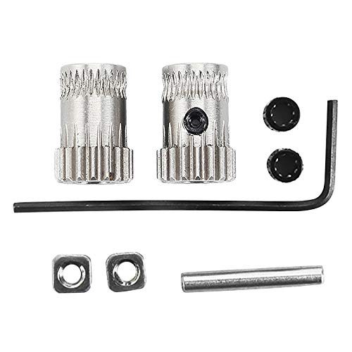 Tuneway 1Set 3D Printer Mk3 Drive Gear Extruder Dual Gears Kit Drive Gears Extrusion Wheel For Upgrade Prusa I3 Mk2/Mk2S/Mk2.5 3D Printer