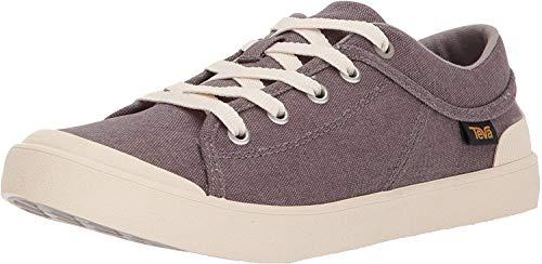 Teva Womens W Freewheel Washed Canvas Sneaker, Plum Truffle, 6 M US