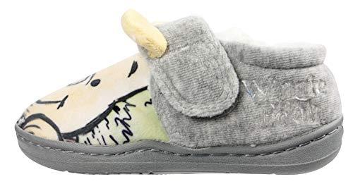 Winnie The Pooh Boys Mayon Slippers Grey 10 UK Child