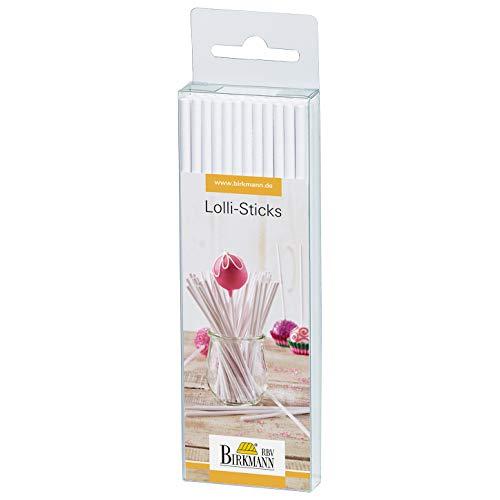 RBV Birkmann, 443099, Lolli-Sticks weiß, aus Papier, 48 Stück