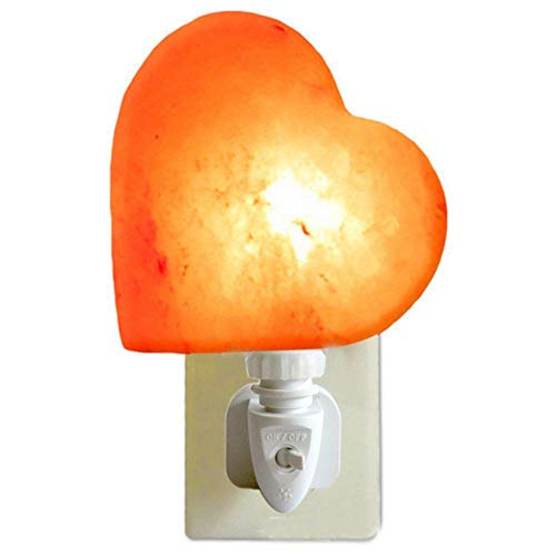 TOHHOT anti-straling reiniging lucht Himalaya natuurlijk hart nachtlampje luchtreiniger bergkristal zout wandlamp