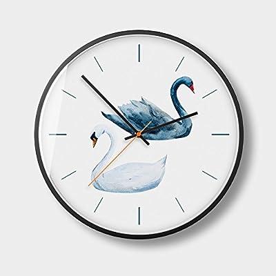 JEZBSY Creative Wall Clock Modern Living Room Mute Metal Clock Quartz Clock Clock Wall Chart (
