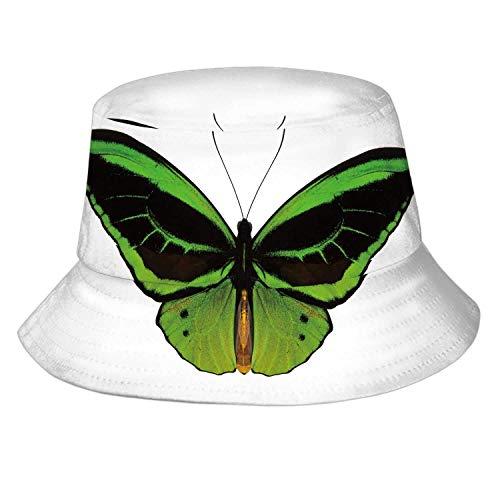 Wildblumenstrauß und Kolibri Bleistift, Mens Womens Summer Bucket Hat - Sonnenhut Packable Vacation Hat Animal