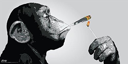 Culturenik Steez Monkey Smoking a Joint Decorative Music Urban...