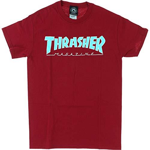 Thrasher Outlined Short Sleeve T-Shirt - Cardinal - Large