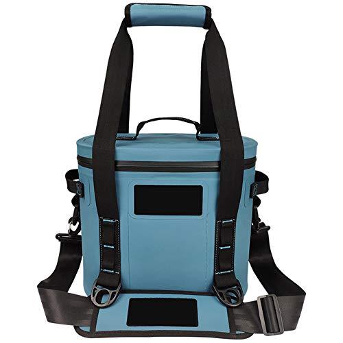 YIDPU 8L Kühltaschen Rucksack,hohe Kapazität Luftdichter Reißverschluss Wasserdichter Stoff Mit Griff Isolierbeutel, Geeignet Zum Wandern Camping Picknick Arbeitsessen Rucksack,Blau