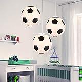 Plafón de fútbol, lámpara de dormitorio infantil, juego de 1, iluminación interior, lámpara de salón, dormitorio,...