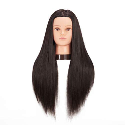 hairginkgo 66cm -71cm maniquí cabeza synthentic Cable de peluquería...