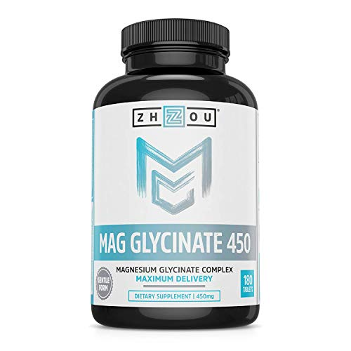 BETTER MAGNESIUM. Zhou offers one of the highest dosages and superior forms of magnesium available—a magnesium glycinate complex. Unlike standalone magnesium citrate, Zhou's Mag Glycinate 450 complex is formulated with glycine to be easier on your st...