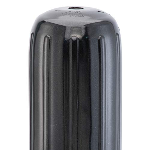 Taylor Made Products 71026 Big B Inflatable Vinyl Boat Fender with Center Rope Tube 8 inch x 20 inch, Black
