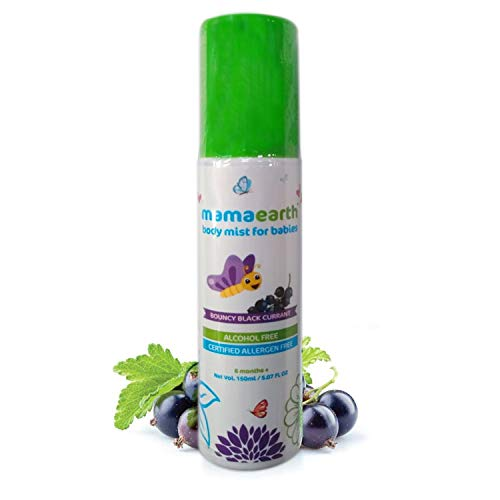 Mamaearth Perfume Body Mist for Babies and Kids with Allergen Free Black Currant Fragrance for All Day Freshness 150 ml