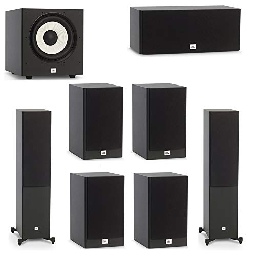 Great Deal! JBL 7.1 System with 2 JBL Stage A180 Floorstanding Speakers, 1 JBL Stage A125C Center Sp...